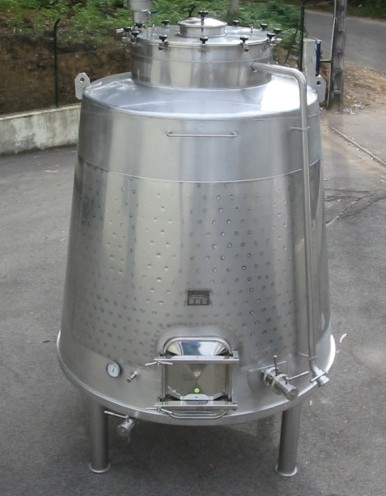stainless steel tank truncated cone shape